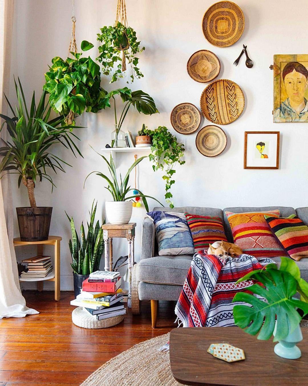 Garden Style Apartment: Salon W Stylu Boho